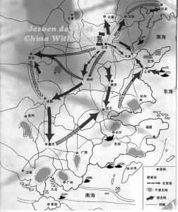 Cui Jian Long March Map 1992 de Kloet use